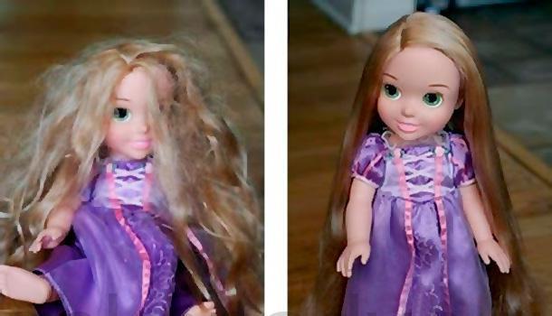 Кукольные волосы перестанут запутываться